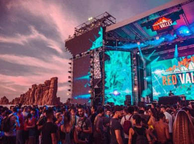 Il palco del Red Valley Festival 2019
